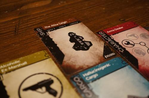 Galactic Scoundrels cards and pieces